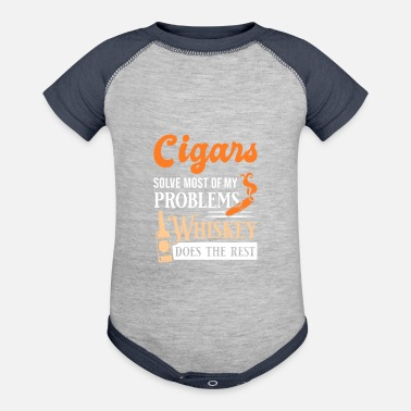 Funny Cigars And Whiskey Quote - Baseball Baby Bodysuit