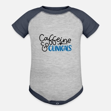 Clinic Caffiene and Clinicals - Baseball Baby Bodysuit