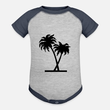 Palm Trees palm - palm tree - Baseball Baby Bodysuit