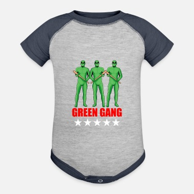 Gang Green Gang Aliens - Baseball Baby Bodysuit