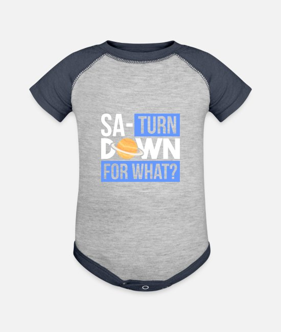 Space Baby One Pieces - Sato URN down for what? Gifts | Astronomy teachers - Baseball Baby Bodysuit heather gray/navy
