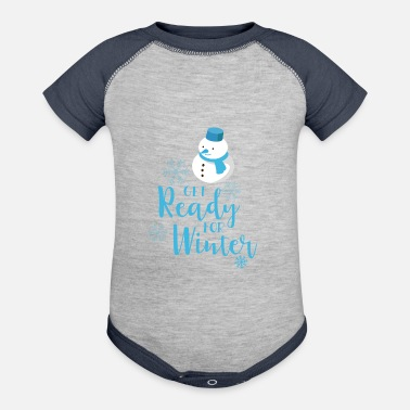 Winter Vacation Winter vacation - Baseball Baby Bodysuit