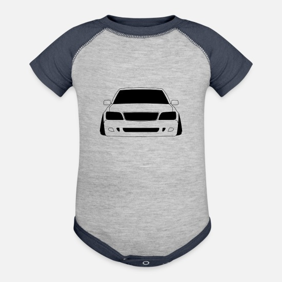 Turbo Baby Clothing - StanceNation Lexus LS400 - Baseball Baby Bodysuit heather gray/navy