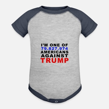 Anti Racism Americans Against Trump - Contrast Baby Bodysuit
