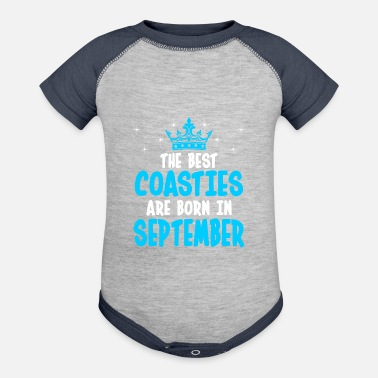 Coastie The Best Coasties Are Born In September - Contrast Baby Bodysuit