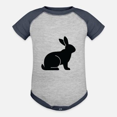 Mammal mammalian A Sitting Rabbit - Contrast Baby Bodysuit