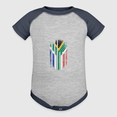 South African American Flag South Africa and USA Design - Baby Contrast One Piece