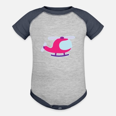 Cute Helicopter Helicopter Cute Girls - Baseball Baby Bodysuit