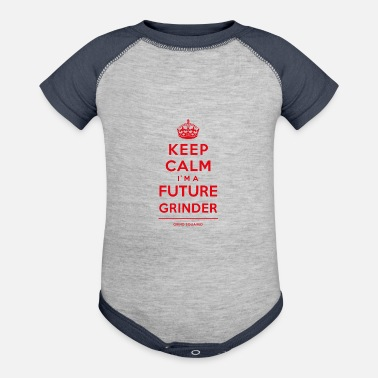 Swag Keep Calm Future Grinder Red - Baseball Baby Bodysuit