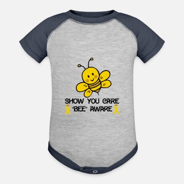 Childhood Childhood Cancer Awareness - Contrast Baby Bodysuit