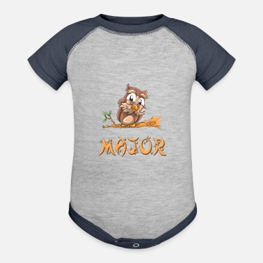 Major Major Owl - Contrast Baby Bodysuit