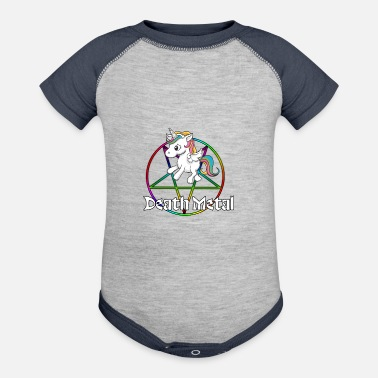 Death Metal Death Metal Unicorn ~ Just for the Real Methalhead - Contrast Baby Bodysuit