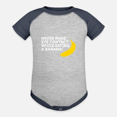 Fellatio Don't Look At Me When Eating Banana - Contrast Baby Bodysuit