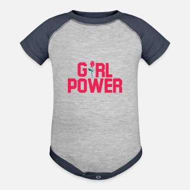 Girl Power Girl Power. Girl Power gifts.Best Seller. Girls. - Contrast Baby Bodysuit