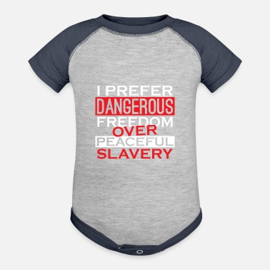 2nd Amendment Peaceful Slavery Patriotic American 2nd Amendment - Contrast Baby Bodysuit