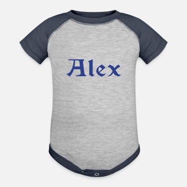 Cool Names ۞»♥Alex-Vector Cool Male Name Design♥ - Baseball Baby Bodysuit