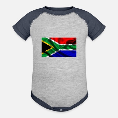 Africa South-African-Flag - Baseball Baby Bodysuit