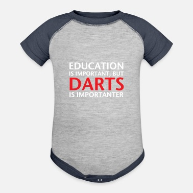 Education Culture Education Darts - Baseball Baby Bodysuit
