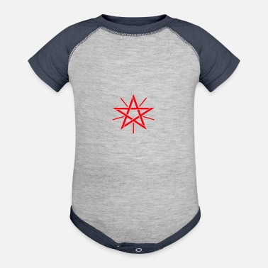 Star Of David star of david - Contrast Baby Bodysuit
