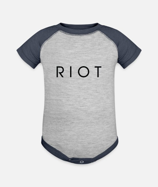 Movie Baby One Pieces - Riot - Baseball Baby Bodysuit heather gray/navy