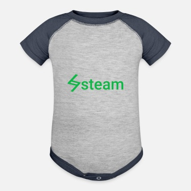 Steam steam - Baseball Baby Bodysuit