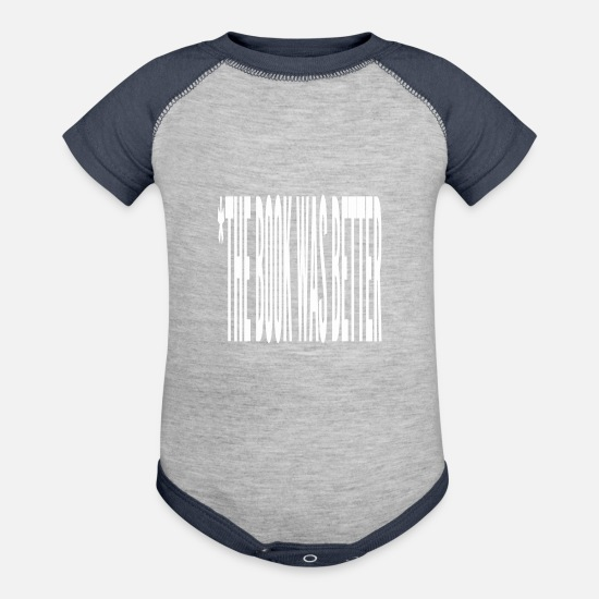 Books Baby Clothing - The Book Was Better - Baseball Baby Bodysuit heather gray/navy
