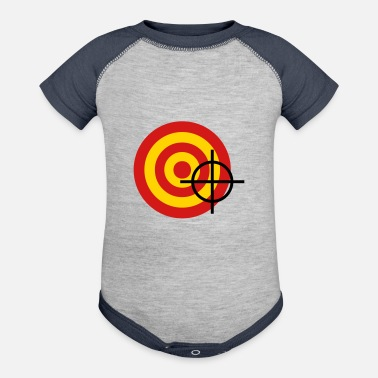 Target target with a targeting - Baseball Baby Bodysuit