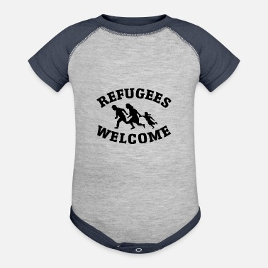 Refugees Welcome refugees welcome - Contrast Baby Bodysuit