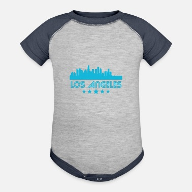 Los Angeles Retro Los Angeles Skyline - Contrast Baby Bodysuit