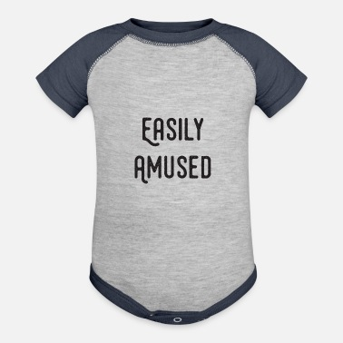 Amusing Easily Amused - Contrast Baby Bodysuit