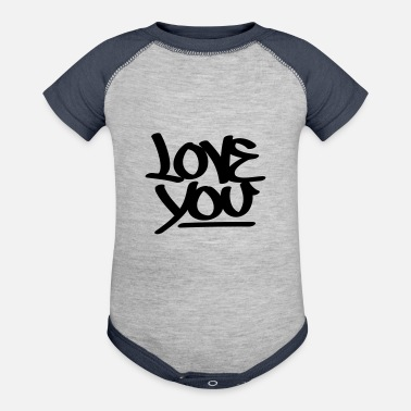 Love You Love You - Baseball Baby Bodysuit