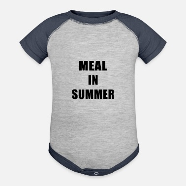 Meal Meal In Summer - Baseball Baby Bodysuit