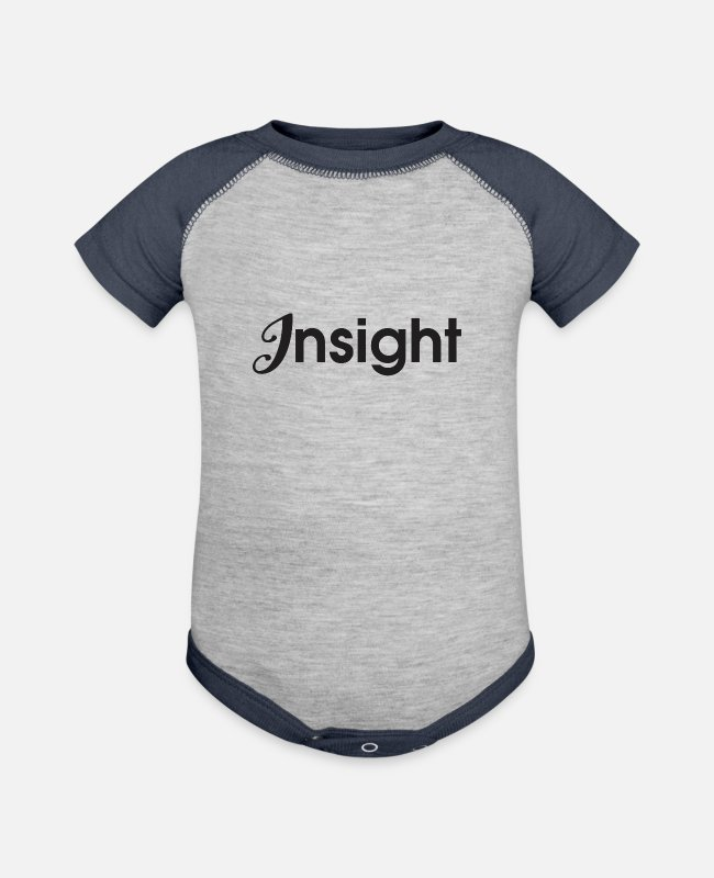 New Baby One Pieces - Insight Black - Baseball Baby Bodysuit heather gray/navy