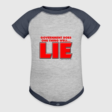 Government Lies - Baby Contrast One Piece