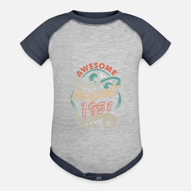 Awesome Since August 1951 Birthday - Baseball Baby Bodysuit