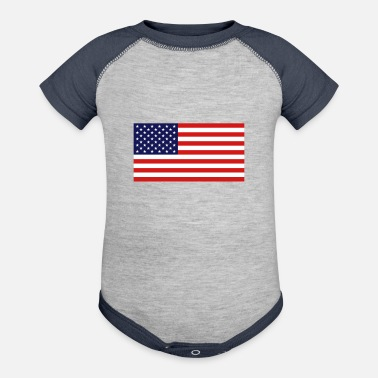 United States Flag - Baseball Baby Bodysuit