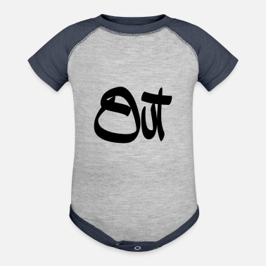 Out out - Baseball Baby Bodysuit