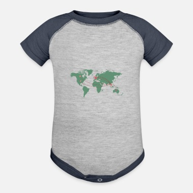 Map Map - Contrast Baby Bodysuit