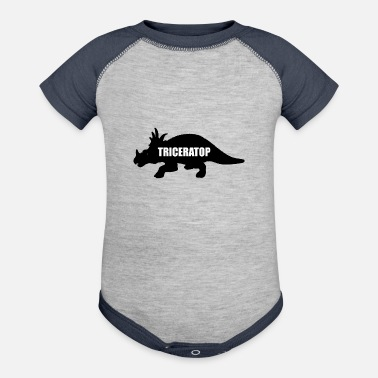 Triceratops triceratops - Contrast Baby Bodysuit