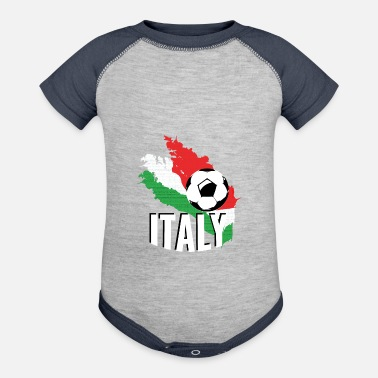Italy T-shirt Football Soccer Italy - Baby Contrast One Piece