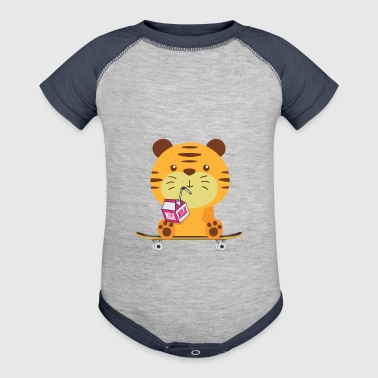 Skateboard Sweet baby Tiger skateboard - Baby Contrast One Piece