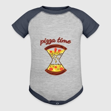 pizza time - Baby Contrast One Piece