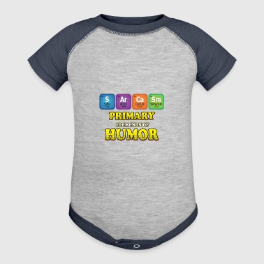 Sarcasm Periodic Table - Baby Contrast One Piece