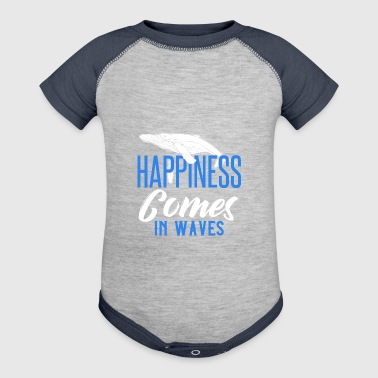 HAPPINESS COMES IN WAVES - Baby Contrast One Piece