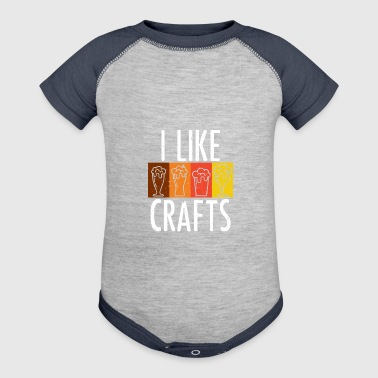 I Like Crafts - Craft Beer Lover Gift - Baby Contrast One Piece