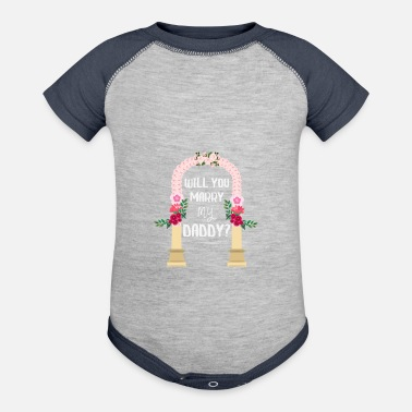 Marry Kids Proposal Engagement Wedding - Contrast Baby Bodysuit