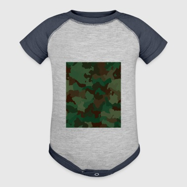 Camo Rectangle - Baby Contrast One Piece