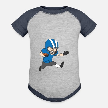 Dallas American football player runs with the football - Baseball Baby Bodysuit