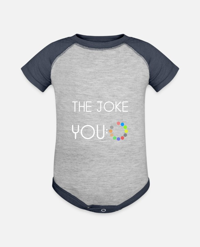 Iron (for Ironing) Baby One Pieces - The joke - Baseball Baby Bodysuit heather gray/navy