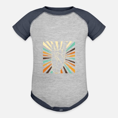 Guitarist Vintage rock and roll hand - Baseball Baby Bodysuit